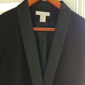 EUC H&M black tuxedo jacket sz 14